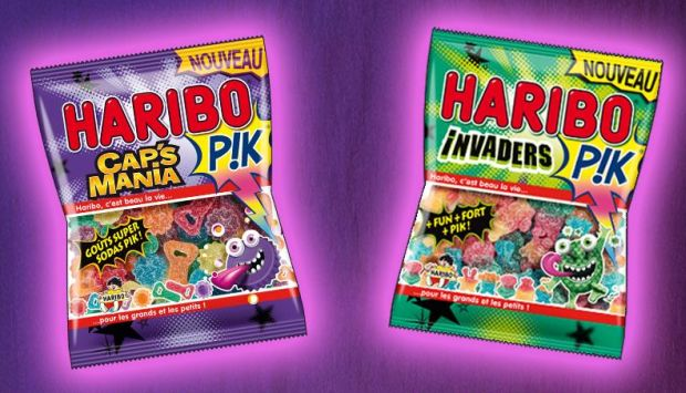 haribo pik caps mania invaders