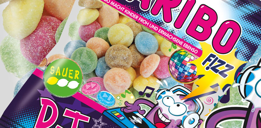 Les bonbons Haribo DJ Brauser Sauer en forme de cachets d'ecstasy